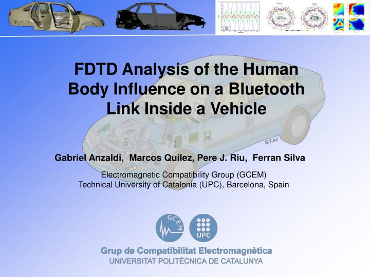 FDTD Analysis of the Human Body Influence on a Bluetooth Link Inside a Vehicle