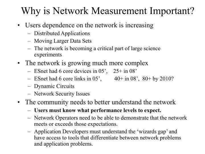 Why is network measurement important