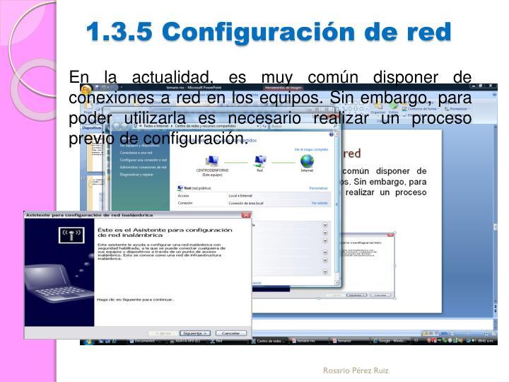 1.3.5 Configuración de