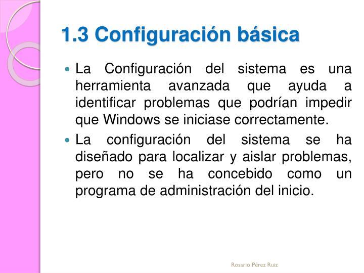 1.3 Configuración básica