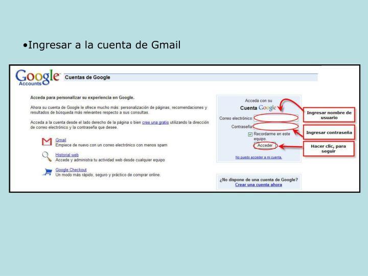 Ingresar a la cuenta de Gmail