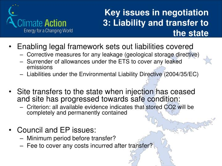 Key issues in negotiation