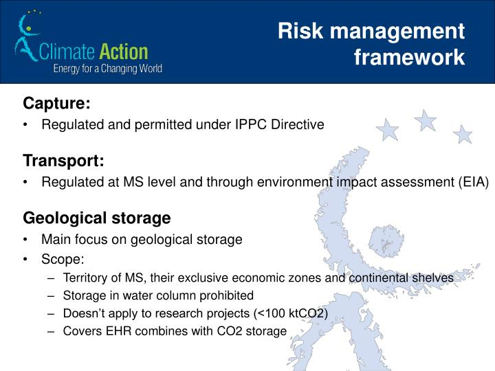 Risk management framework