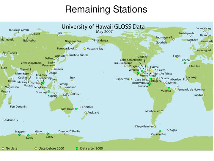 Remaining Stations
