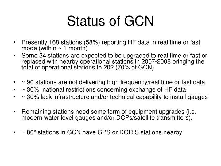 Status of GCN
