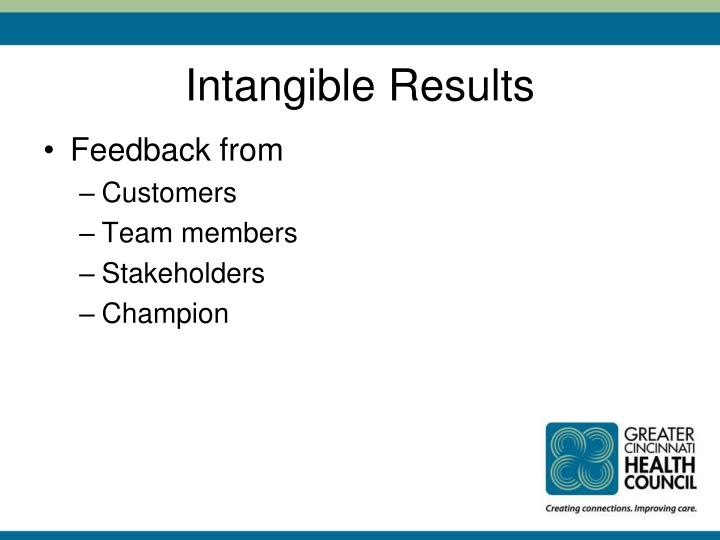 Intangible Results