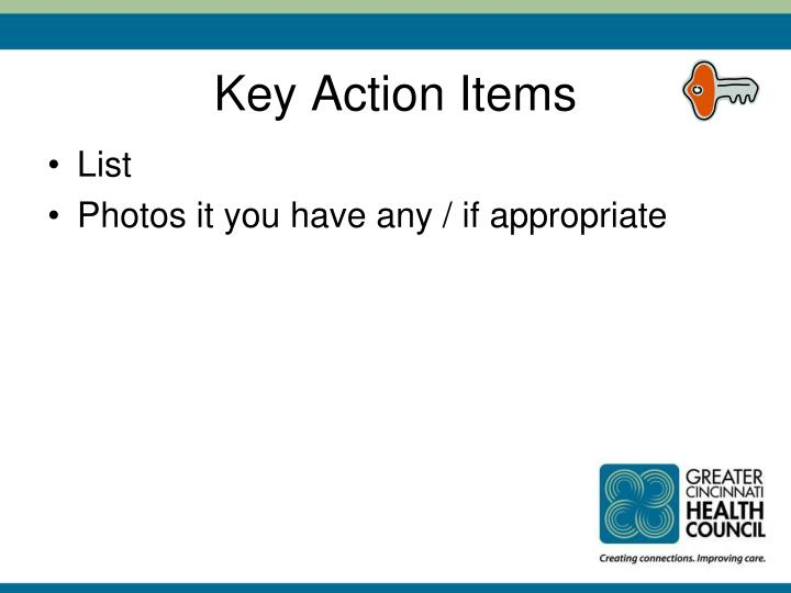 Key Action Items