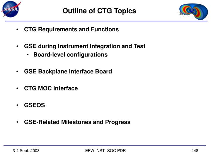 Outline of ctg topics