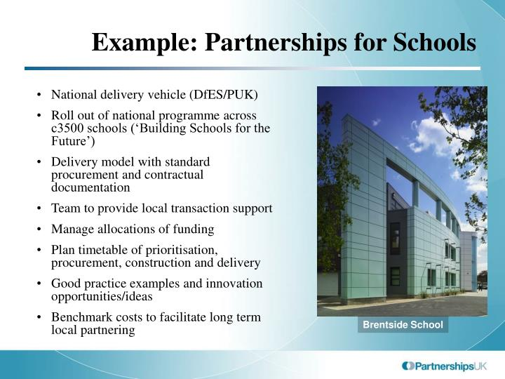 Example: Partnerships for Schools