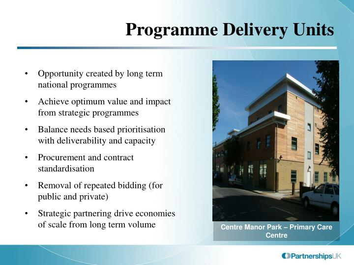 Programme Delivery Units