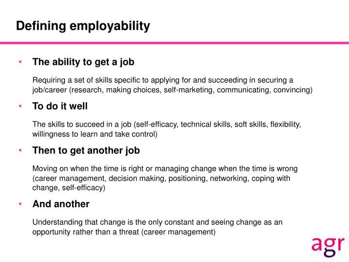 Defining employability