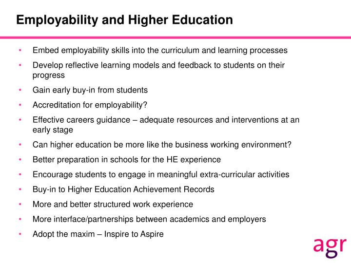 Employability and Higher Education
