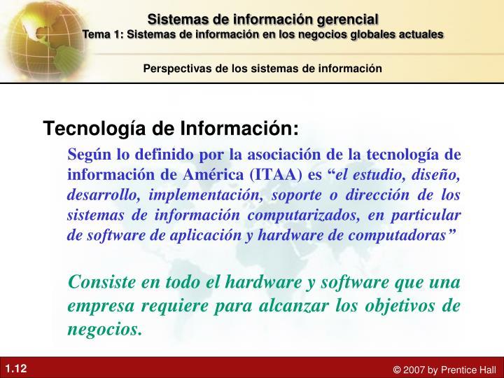 Tecnología de Información: