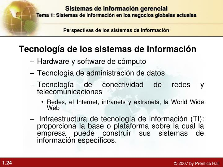 Tecnología de los sistemas de información