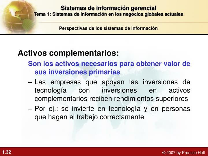 Activos complementarios: