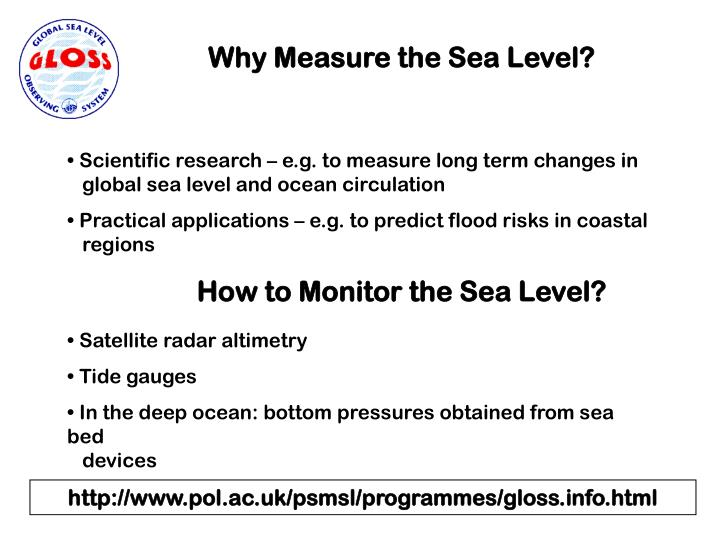Why Measure the Sea Level?