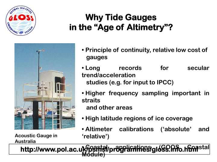 Why Tide Gauges
