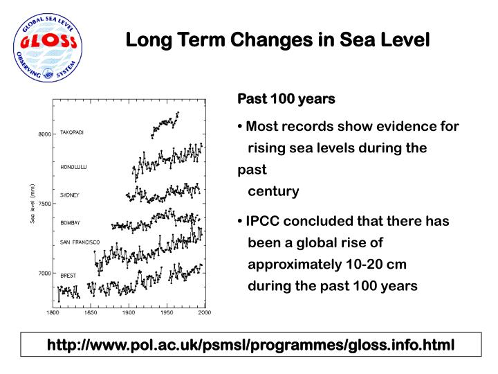 Long Term Changes in Sea Level