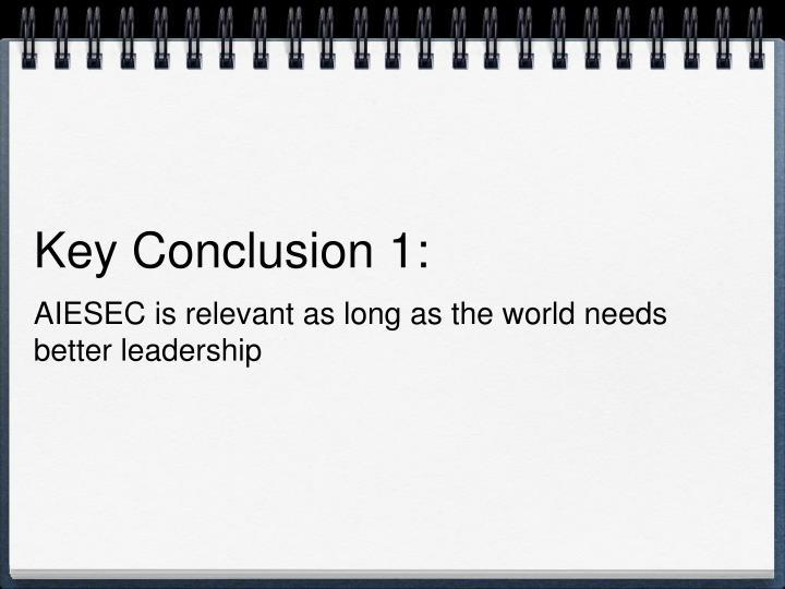 Key Conclusion 1: