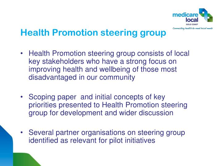 Health promotion steering group