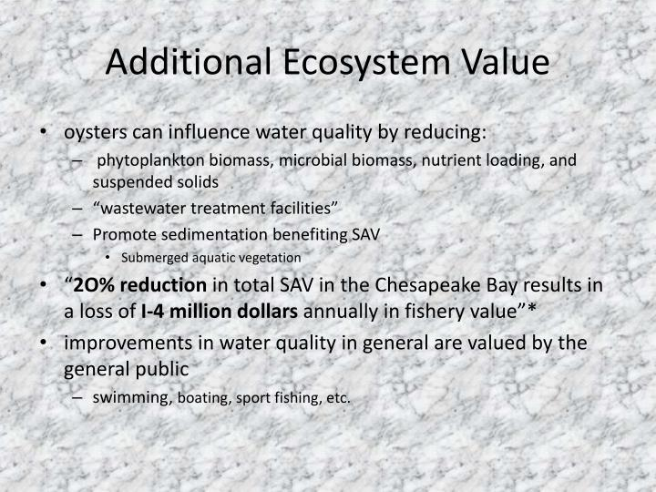 Additional Ecosystem Value