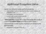 additional ecosystem value