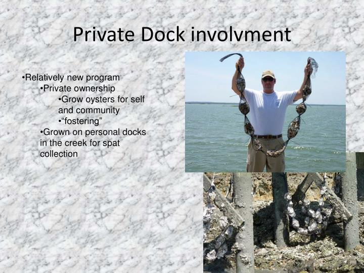 Private Dock involvment