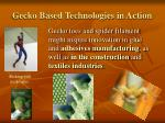 gecko based technologies in action