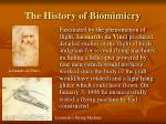 the history of biomimicry