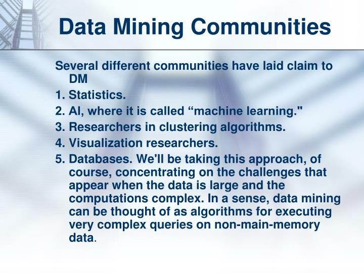 Data Mining Communities