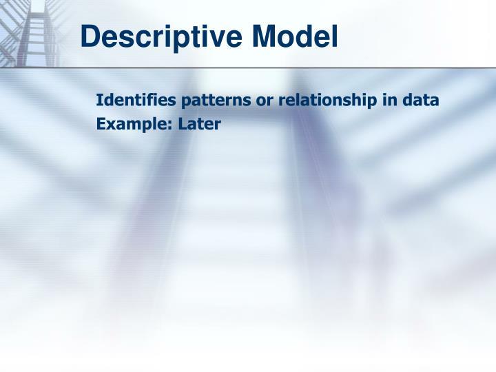 Descriptive Model