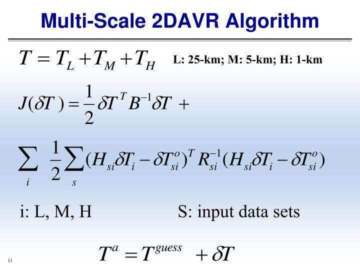 Multi-Scale 2DAVR Algorithm