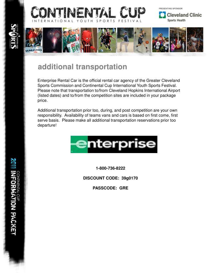 additional transportation
