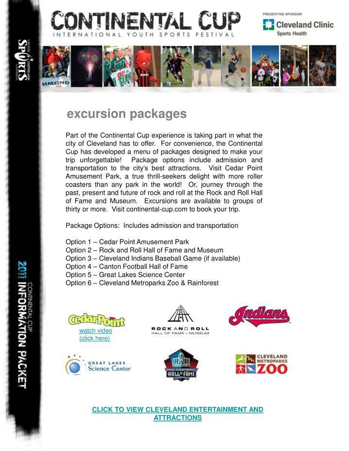 excursion packages