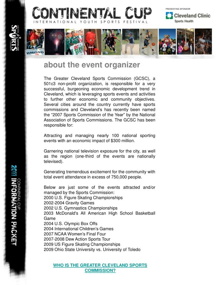 about the event organizer