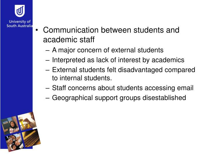 Communication between students and academic staff