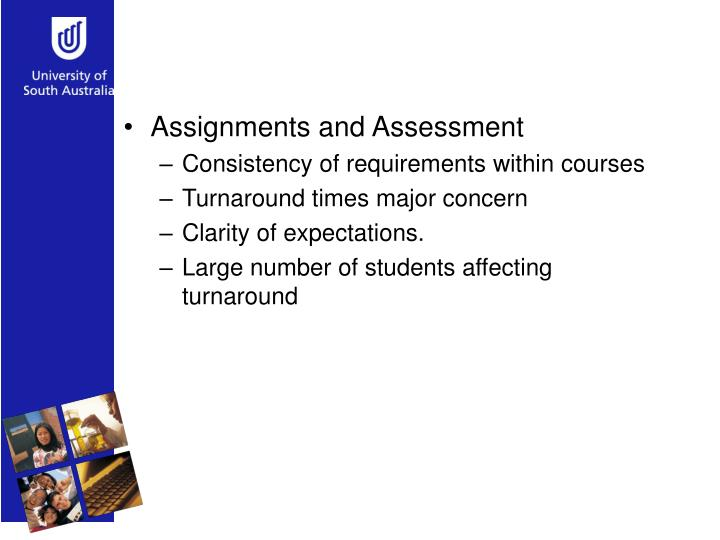 Assignments and Assessment