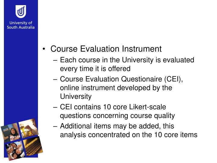 Course Evaluation Instrument