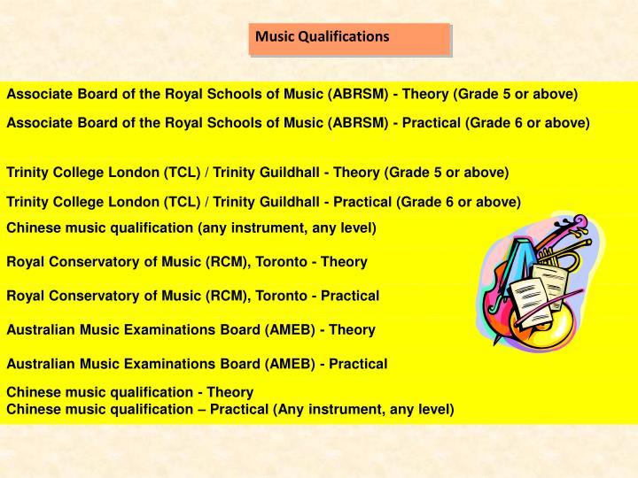 Music Qualifications