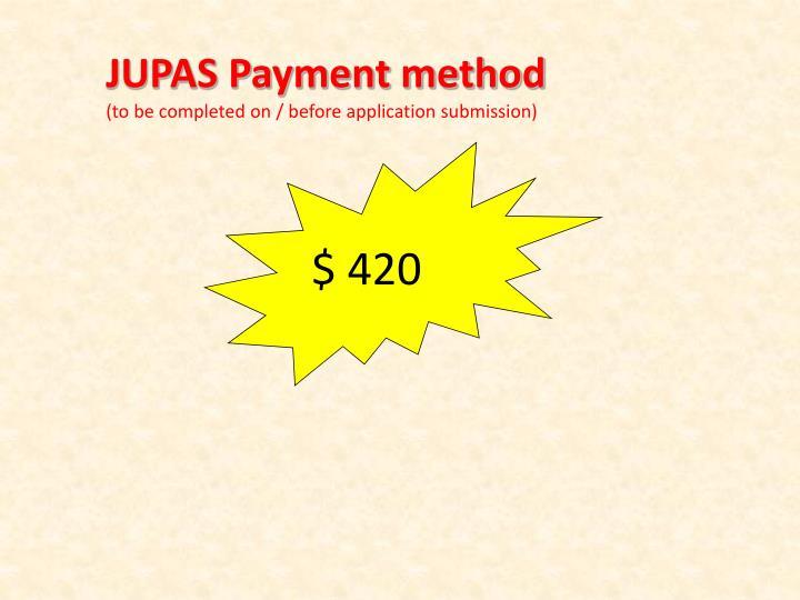 JUPAS Payment method