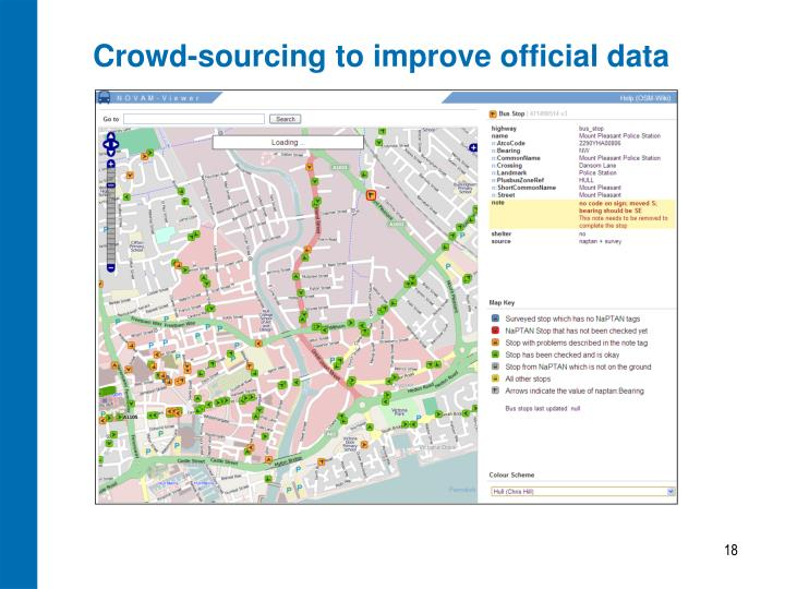 Crowd-sourcing to improve official data