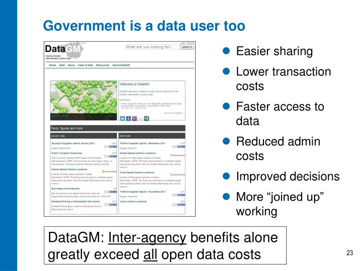 Government is a data user too