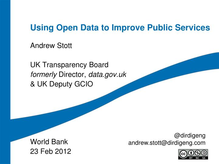 Using open data to improve public services