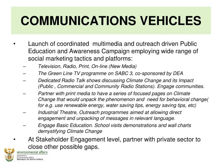 COMMUNICATIONS VEHICLES