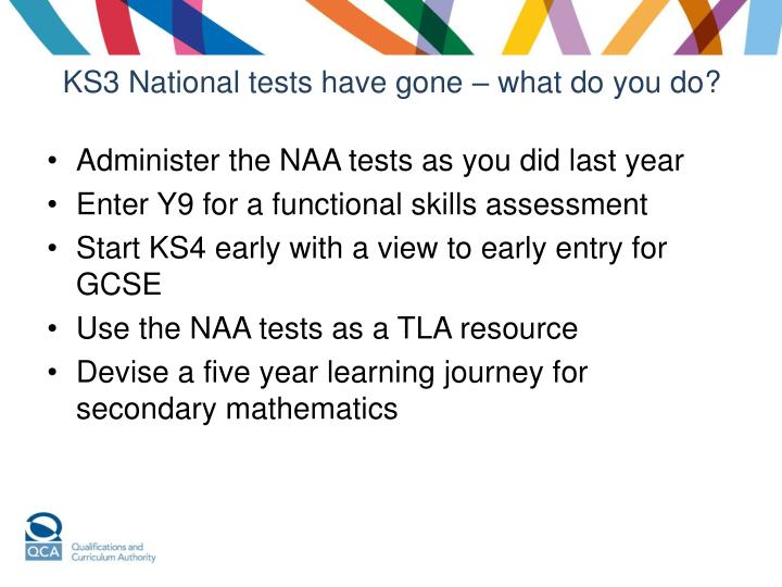 KS3 National tests have gone – what do you do?