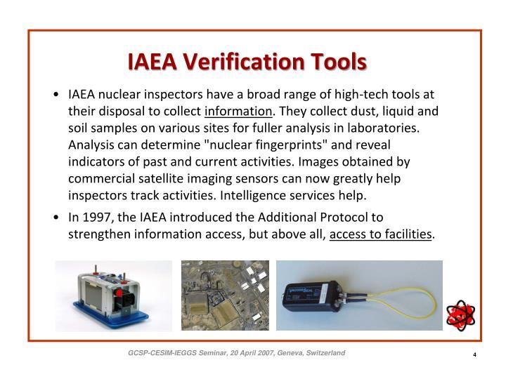 IAEA Verification Tools