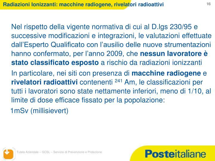 Radiazioni Ionizzanti: macchine radiogene, rivelatori radioattivi