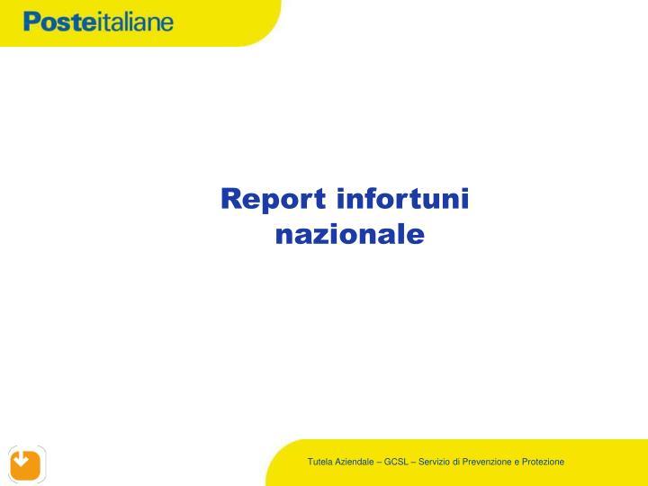 Report infortuni
