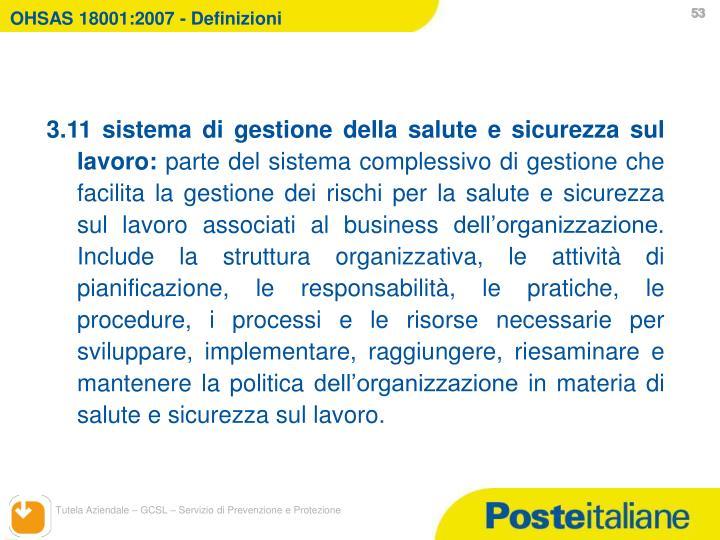 OHSAS 18001:2007 - Definizioni
