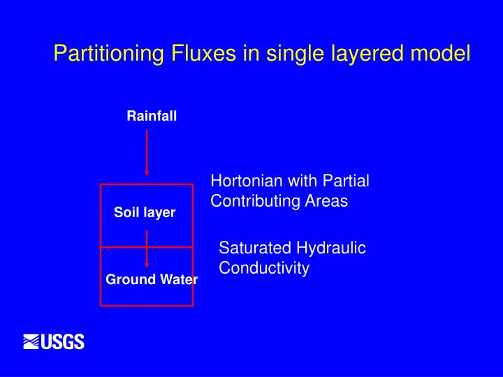 Partitioning Fluxes in single layered model